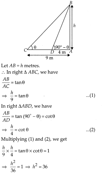 MP Board Class 10th Maths Solutions Chapter 9 Some Applications of Trigonometry Ex 9.1 23