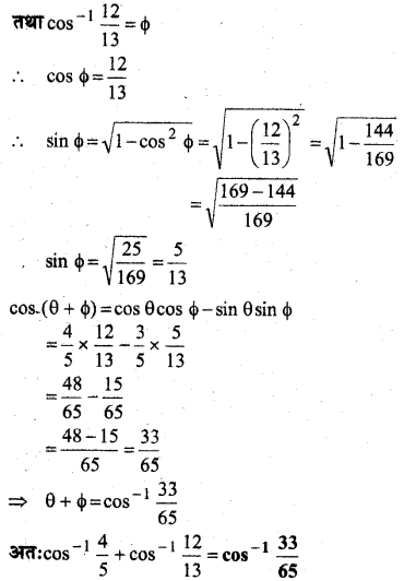 MP Board Class 12th Maths Book Solutions Chapter 2 प्रतिलोम त्रिकोणमितीय फलन विविध प्रश्नावली 8