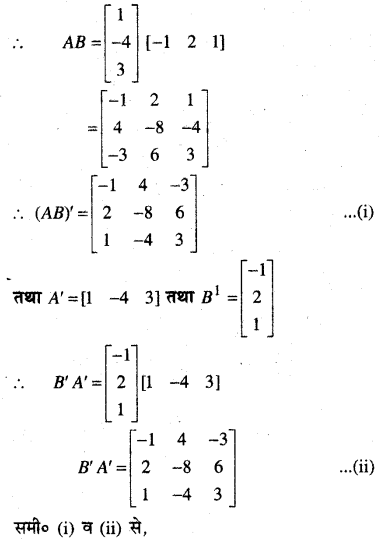MP Board Class 12th Maths Book Solutions Chapter 3 आव्यूह Ex 3.3 11