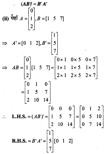 MP Board Class 12th Maths Book Solutions Chapter 3 आव्यूह Ex 3.3 12