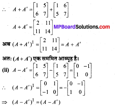 MP Board Class 12th Maths Book Solutions Chapter 3 आव्यूह Ex 3.3 18