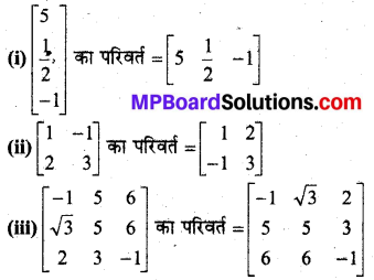 MP Board Class 12th Maths Book Solutions Chapter 3 आव्यूह Ex 3.3 2