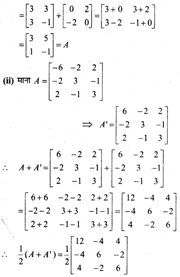 MP Board Class 12th Maths Book Solutions Chapter 3 आव्यूह Ex 3.3 23