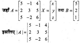 MP Board Class 12th Maths Book Solutions Chapter 4 सारणिक Ex 4.6 9