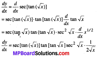 MP Board Class 12th Maths Book Solutions Chapter 5 सांतत्य तथा अवकलनीयता Ex 5.2 4