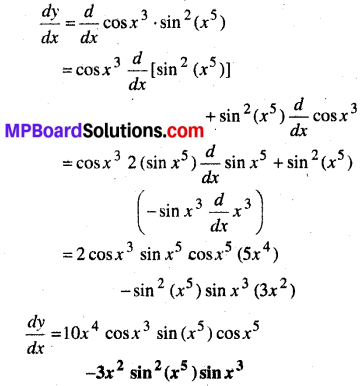 MP Board Class 12th Maths Book Solutions Chapter 5 सांतत्य तथा अवकलनीयता Ex 5.2 7