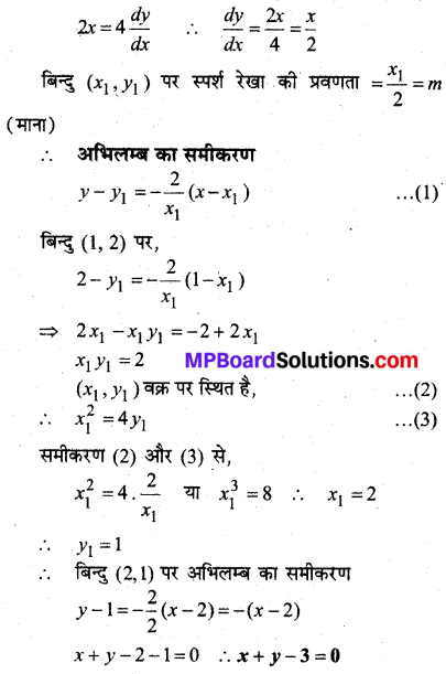 MP Board Class 12th Maths Book Solutions Chapter 6 अवकलज के अनुप्रयोग विविध प्रश्नावली 6