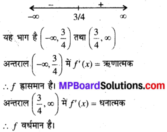 MP Board Class 12th Maths Book Solutions Chapter 6 अवकलज के अनुप्रयोग Ex 6.2 1
