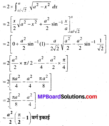 MP Board Class 12th Maths Book Solutions Chapter 8 समाकलनों के अनुप्रयोग Ex 8.1 10