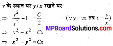 MP Board Class 12th Maths Book Solutions Chapter 9 अवकल समीकरण Ex 9.5 10