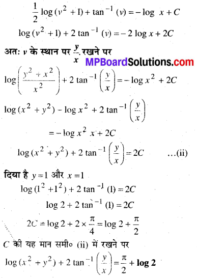 MP Board Class 12th Maths Book Solutions Chapter 9 अवकल समीकरण Ex 9.5 28