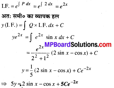 MP Board Class 12th Maths Book Solutions Chapter 9 अवकल समीकरण Ex 9.6 1