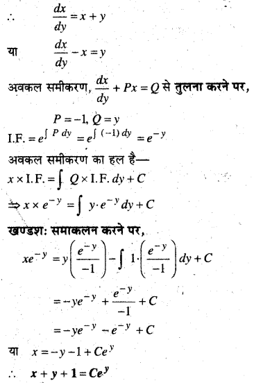 MP Board Class 12th Maths Book Solutions Chapter 9 अवकल समीकरण Ex 9.6 13
