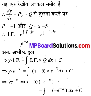 MP Board Class 12th Maths Book Solutions Chapter 9 अवकल समीकरण Ex 9.6 23