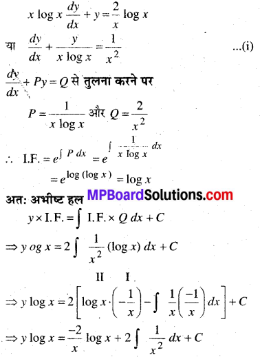 MP Board Class 12th Maths Book Solutions Chapter 9 अवकल समीकरण Ex 9.6 8