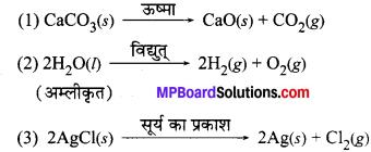 अध्याय 1 रासायनिक अभिक्रिया एवं समीकरण MP Board