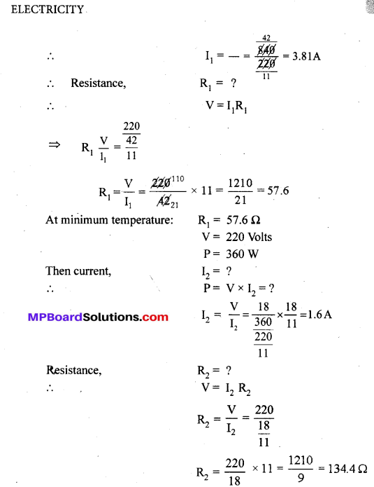 MP Board Class 10th Science Solutions Chapter 12 Electricity 24
