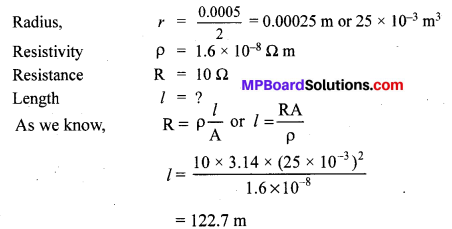 MP Board Class 10th Science Solutions Chapter 12 Electricity 8