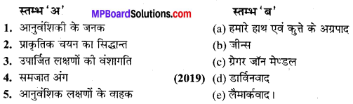 MP Board Class 10th Science Solutions Chapter 9 अनुवांशिकता एवं जैव विकास 4