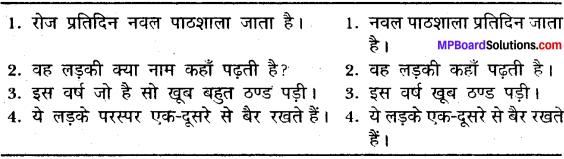 MP Board Class 11 General Hindi व्याकरण अशुद्ध गद्यांश की भाषा का परिमार्जन img-6