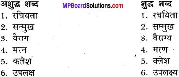MP Board Class 11 General Hindi व्याकरण अशुद्ध गद्यांश की भाषा का परिमार्जन img-8