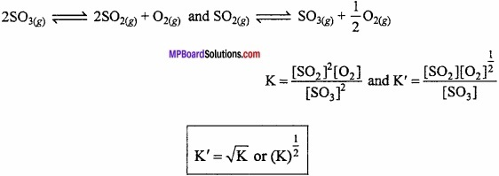 MP Board Class 11th Chemistry Important Questions Chapter 7 Equilibrium img 17