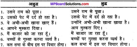 MP Board Class 11th General Hindi व्याकरण वाक्य अशुद्धि संशोधन img-11