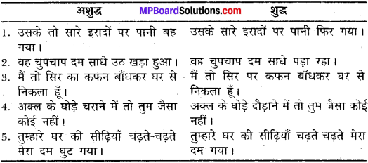 MP Board Class 11th General Hindi व्याकरण वाक्य अशुद्धि संशोधन img-13