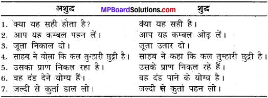 MP Board Class 11th General Hindi व्याकरण वाक्य अशुद्धि संशोधन img-9