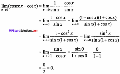 MP Board Class 11th Maths Important Questions Chapter 13 Limits and Derivatives 10