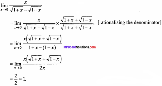 MP Board Class 11th Maths Important Questions Chapter 13 Limits and Derivatives 12