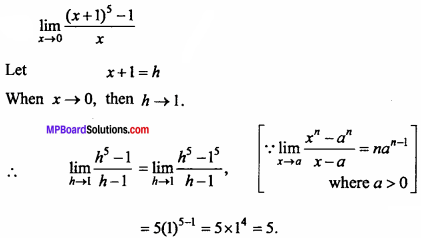 MP Board Class 11th Maths Important Questions Chapter 13 Limits and Derivatives 16