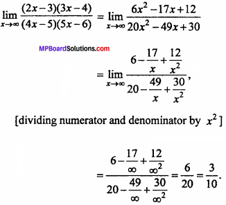 MP Board Class 11th Maths Important Questions Chapter 13 Limits and Derivatives 20