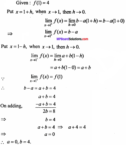 MP Board Class 11th Maths Important Questions Chapter 13 Limits and Derivatives 26