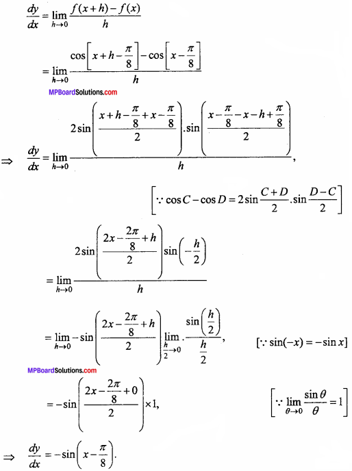 MP Board Class 11th Maths Important Questions Chapter 13 Limits and Derivatives 38
