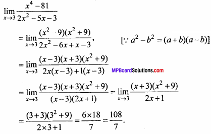 MP Board Class 11th Maths Important Questions Chapter 13 Limits and Derivatives 4