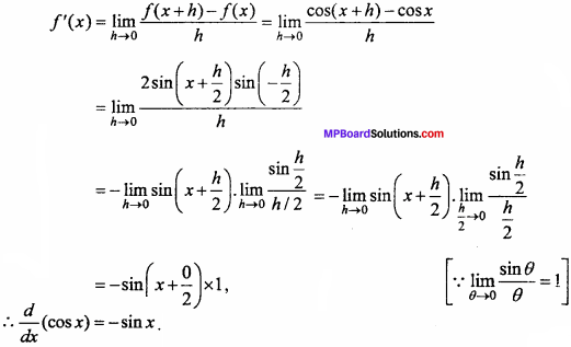 MP Board Class 11th Maths Important Questions Chapter 13 Limits and Derivatives 45