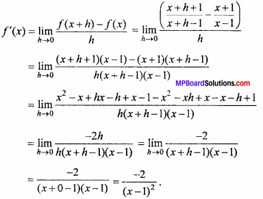 MP Board Class 11th Maths Important Questions Chapter 13 Limits and Derivatives 46