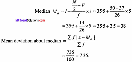 MP Board Class 11th Maths Important Questions Chapter 15 Statistics 12