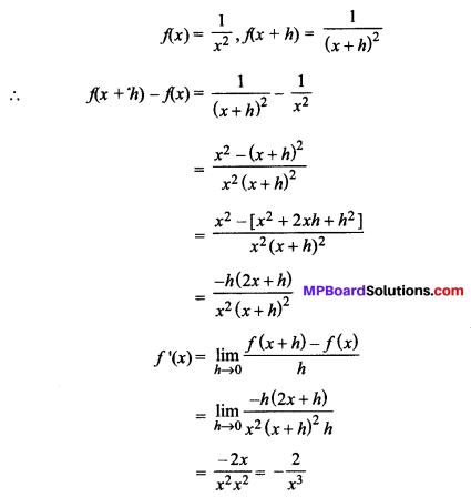 MP Board Class 11th Maths Solutions Chapter 13 सीमा और अवकलज Ex 13.2 img-6
