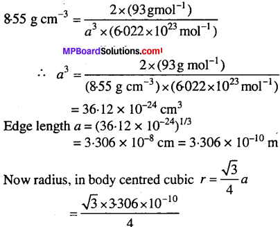 MP Board Class 12th Chemistry Solutions Chapter 1 The Solid State - 10