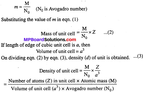 MP Board Class 12th Chemistry Solutions Chapter 1 The Solid State - 28