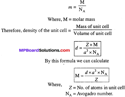 MP Board Class 12th Chemistry Solutions Chapter 1 The Solid State - 29