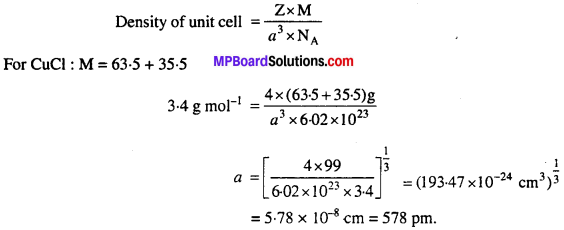 MP Board Class 12th Chemistry Solutions Chapter 1 The Solid State - 37