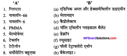 MP Board Class 12th Chemistry Solutions Chapter 15 बहुलक - 3