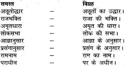MP Board Class 12th General Hindi व्याकरण समास-विग्रह img-12