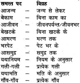 MP Board Class 12th General Hindi व्याकरण समास-विग्रह img-5