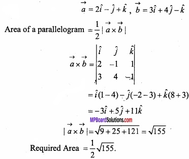 MP Board Class 12th Maths Important Questions Chapter 10 Vector Algebra img 26