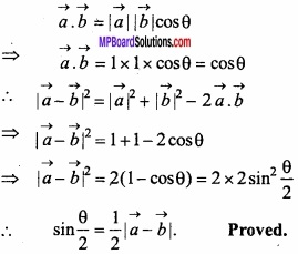 MP Board Class 12th Maths Important Questions Chapter 10 Vector Algebra img 48