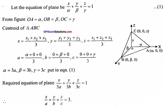 MP Board Class 12th Maths Important Questions Chapter 11 Three Dimensional Geometry IMG 12